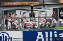 Squadra della corsa di formula 1 Fotografia Stock