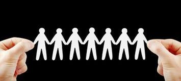 Squadra della gente in mani Fotografia Stock Libera da Diritti