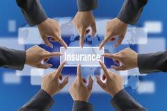 Squadra della gestione dei rischi di assicurazione Fotografia Stock