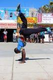 Squadra della via di dancing sulla spiaggia California di Venezia Fotografie Stock Libere da Diritti