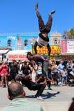 Squadra della via di dancing sulla spiaggia California di Venezia Fotografie Stock