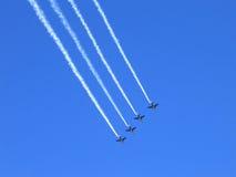 Squadra della visualizzazione del jet Fotografia Stock Libera da Diritti