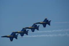 Squadra della visualizzazione di aria di angeli blu Fotografia Stock Libera da Diritti
