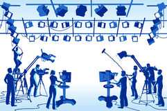 Squadra dello studio del canale televisivo royalty illustrazione gratis