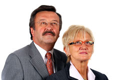 Squadra di affari in 50S Fotografia Stock
