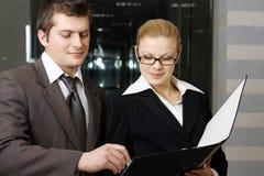 Squadra di affari ad una riunione Fotografia Stock