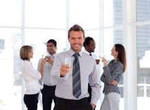 Squadra di affari che celebra successo Fotografia Stock Libera da Diritti