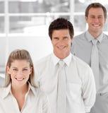 Squadra di affari che mostra spirito Fotografia Stock