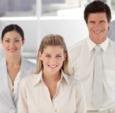 Squadra di affari che mostra spirito Fotografie Stock