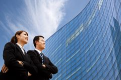 Squadra di affari che si leva in piedi insieme Fotografie Stock