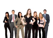 Squadra di affari che si leva in piedi in su Immagini Stock