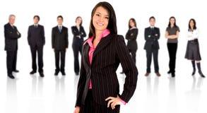 Squadra di affari con un businessw Fotografia Stock Libera da Diritti