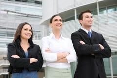 Squadra di affari della donna e dell'uomo Fotografie Stock