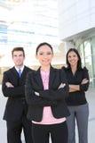 Squadra di affari della donna e dell'uomo Fotografia Stock Libera da Diritti