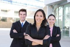 Squadra di affari della donna e dell'uomo Immagini Stock