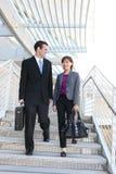 Squadra di affari della donna e dell'uomo Fotografie Stock Libere da Diritti