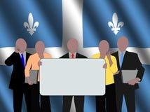 Squadra di affari della Quebec royalty illustrazione gratis