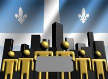 Squadra di affari della Quebec con orizzonte illustrazione di stock
