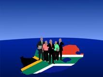 Squadra di affari della Sudafrica illustrazione vettoriale