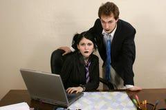 Squadra di affari di Goth Fotografie Stock
