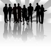 Squadra di affari - illustrazione di vettore Immagini Stock