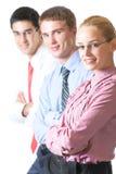 Squadra di affari, isolata Fotografia Stock Libera da Diritti