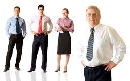Squadra di affari, isolata Immagini Stock Libere da Diritti