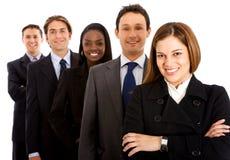 Squadra di affari isolata Fotografie Stock Libere da Diritti