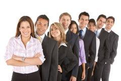 Squadra di affari isolata Immagini Stock