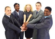 Squadra di affari isolata sopra Fotografie Stock Libere da Diritti