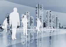 Squadra di affari su priorità bassa Immagine Stock Libera da Diritti