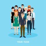 Squadra di affari teamwork Concetto di media del sociale e della rete sociale illustrazione vettoriale