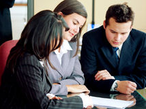 Squadra di affari in una riunione Immagine Stock Libera da Diritti