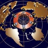 Squadra di businessmans nella rete globale Immagini Stock