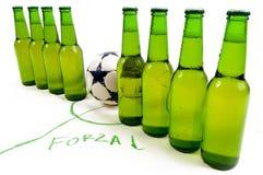 Squadra di calcio fotografia stock