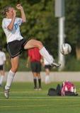 Squadra di college 5 delle ragazze di calcio Immagine Stock