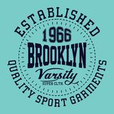 Squadra di college di Brooklyn di progettazione Fotografia Stock