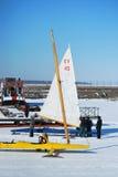 Squadra di corsa del crogiolo di ghiaccio Fotografie Stock