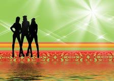 Squadra di donne royalty illustrazione gratis