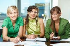 Squadra di donne di affari Fotografia Stock