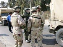 Squadra di EOD, Bagdad Fotografia Stock Libera da Diritti