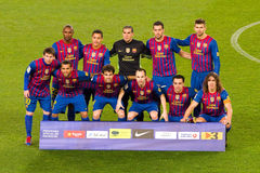 Squadra di FC Barcellona Fotografie Stock
