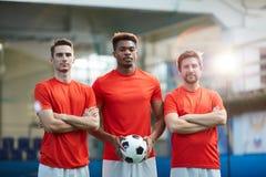 Squadra di football americano fotografie stock libere da diritti