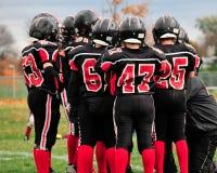Squadra di football americano Fotografie Stock