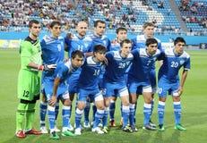 Squadra di football americano del cittadino del Uzbekistan Immagini Stock