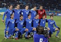 Squadra di football americano del cittadino dell'Italia Immagine Stock