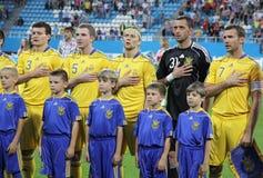 Squadra di football americano del cittadino dell'Ucraina Fotografia Stock Libera da Diritti