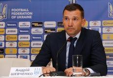 Squadra di football americano dell'Ucraina: Nuova presentazione del pullover Immagini Stock