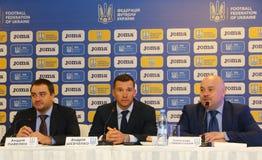 Squadra di football americano dell'Ucraina: Nuova presentazione del pullover Fotografia Stock