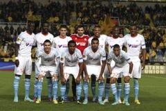 Squadra di football americano di MARSIGLIA Fotografie Stock Libere da Diritti
